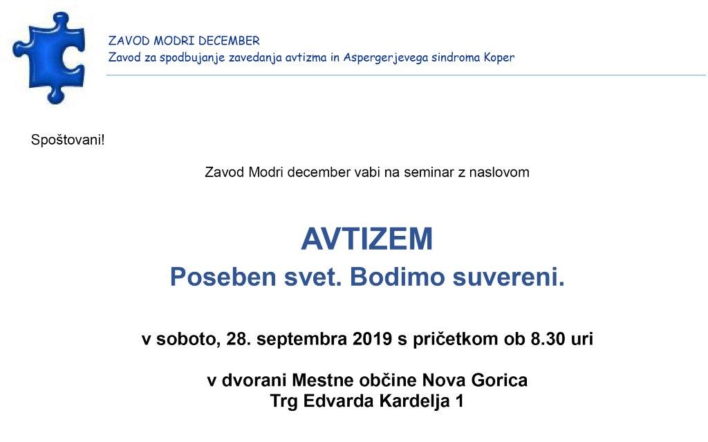 """Seminar: """"AVTIZEM. Poseben svet. Bodimo suvereni"""""""